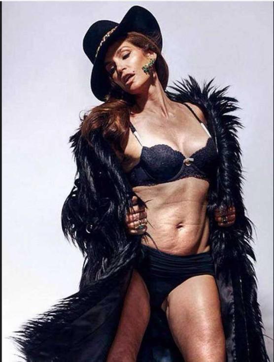 Cindy Crawford, sin photoshop a los 48 años