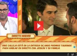 """Jesulín, en directo en """"Sálvame"""", una puñalada trapera a Belén Esteban"""