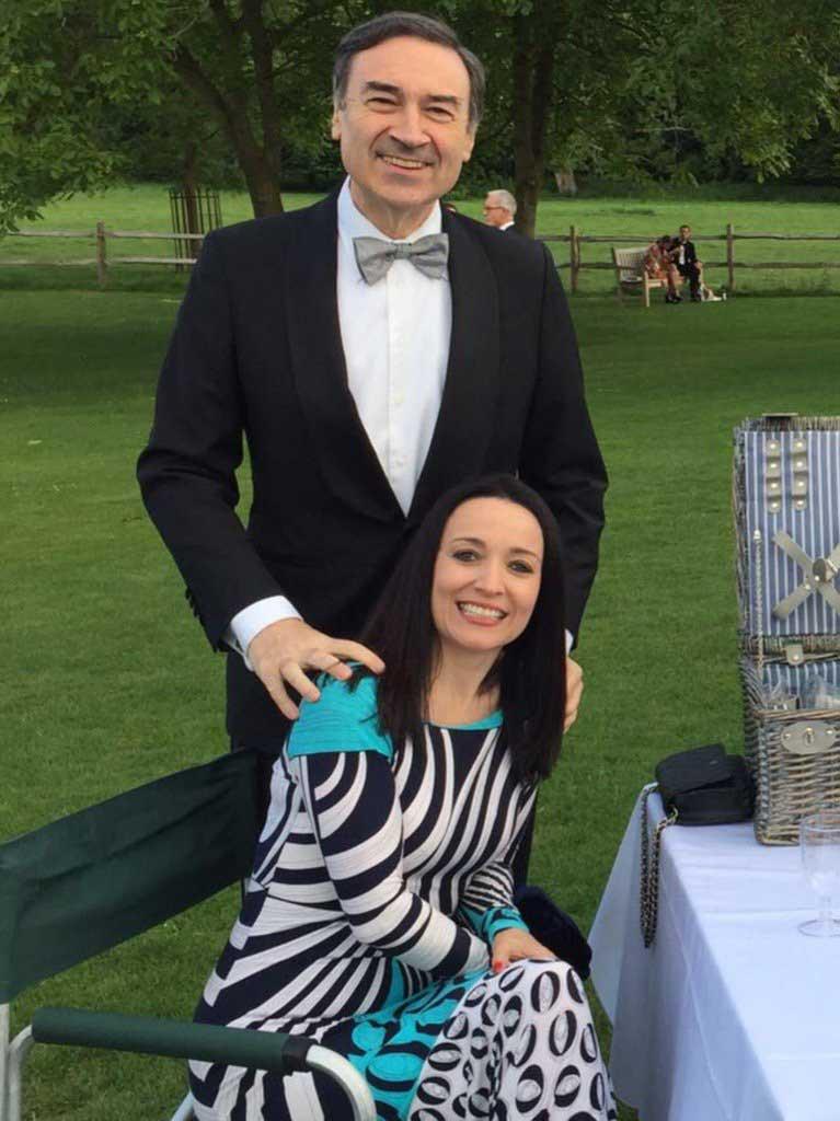 Cruz Sánchez de Lara y Pedro Jota Ramírez en el festival de Glyndenbourne