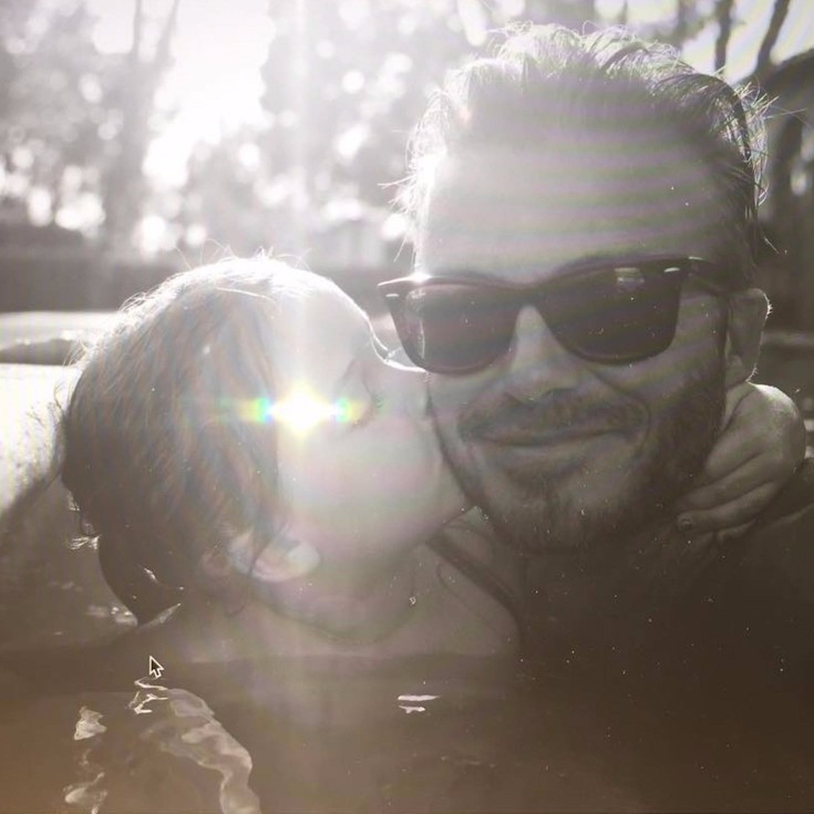 David Beckham y Harper vídeo