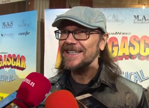 Santiago Segura en el estreno de Madagascar
