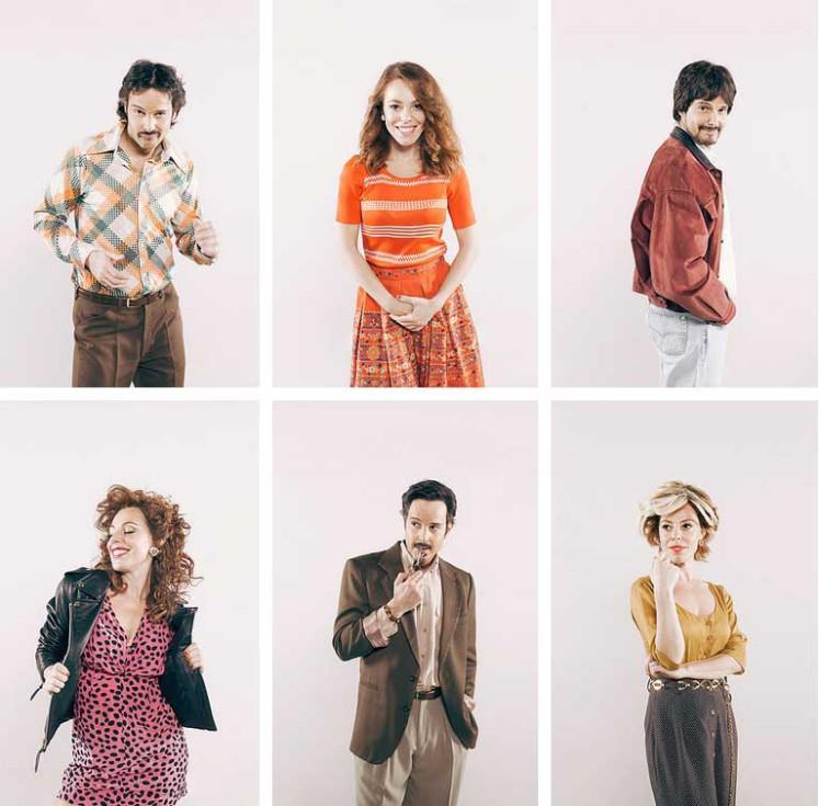 Distintas caracterizaciones de los personajes de Una Vez al año, Josep y Pilar, David Janer y Silvia Marty