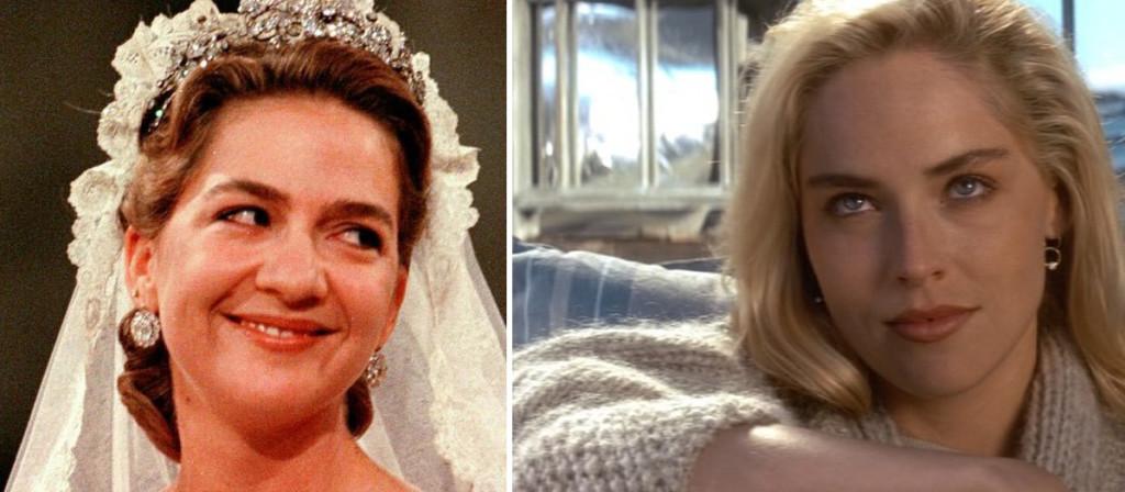 Infanta Cruistina y Sharon Stone