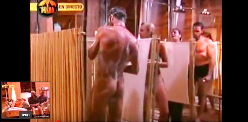 Canales Rivera desnudo en La Selva de los Famosos